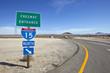 Mojave Desert Interstate 15 Freeway near Baker California