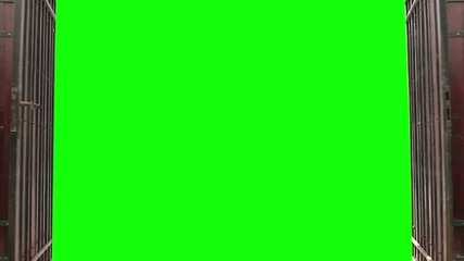 Green screen gates open