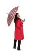 Woman with a tartan umbrella