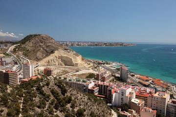 Seaside view of Alicante, Catalonia Spain