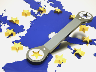 european union repaired using wrench
