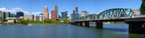 Portland Oregon skyline panorama.