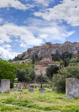 Church of the Holy Apostles, Acropolis in background, Greece