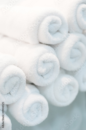 closeup of the bath towels