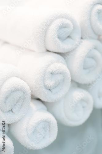 closeup of the bath towels