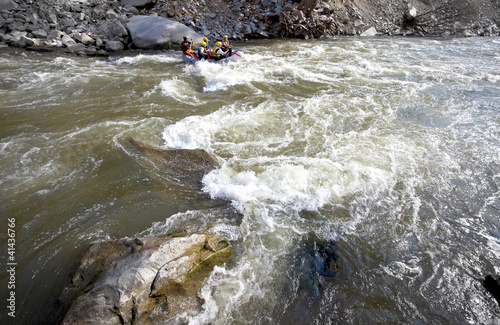 Whitewater rafting river