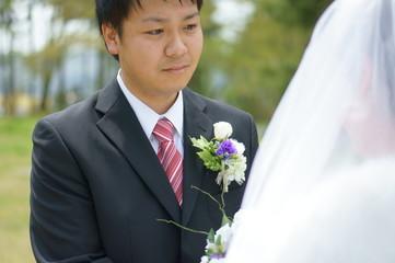 結婚する男