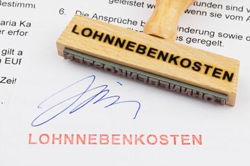 Holzstempel : Lohnnebenkosten