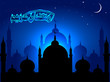 Ramadan Kareem. Abstract Mosque with Shiny Background.