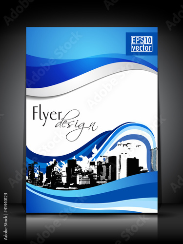 Professional business flyer template or corporate brochure desig