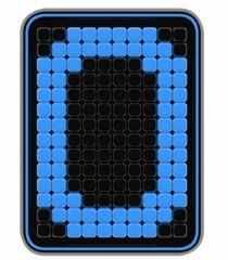 cube type L.E.D. number 0
