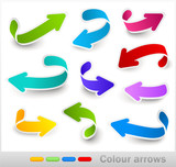 Fototapety Collection of colour arrows