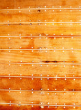 boat wooden hull texture detail with caulking putty poster