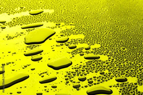 Leinwanddruck Bild many water drops for background
