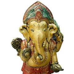 close up of ganesh god elephant god india