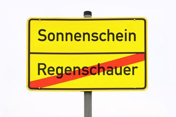 Schild Sonnenschein © Matthias Buehner