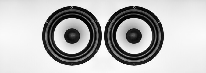 Music Speaker on a gray background