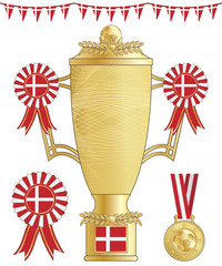 denmark football trophy
