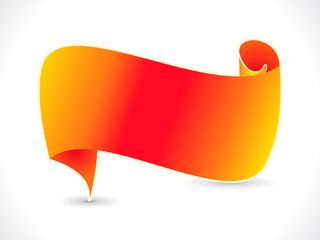 abstract orange ribbon vector