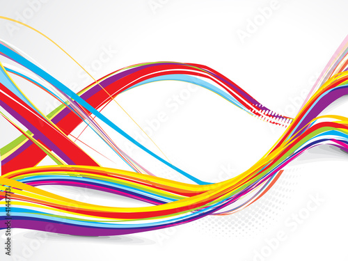 abstract colorful wave dotted background
