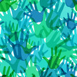 Vector seamless pattern of the palms
