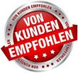 """Button Banner """"Von Kunden empfohlen"""" rot/silber"""