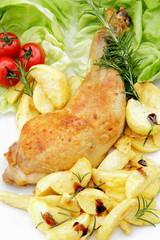 coscia di pollo arrosto con patate