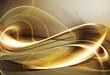 Gold fractal curl