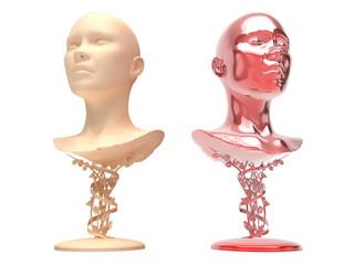 Scultura volto femminile