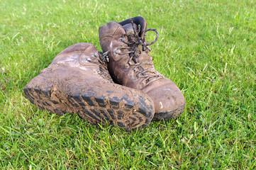 Pair of Muddy Walking Boots