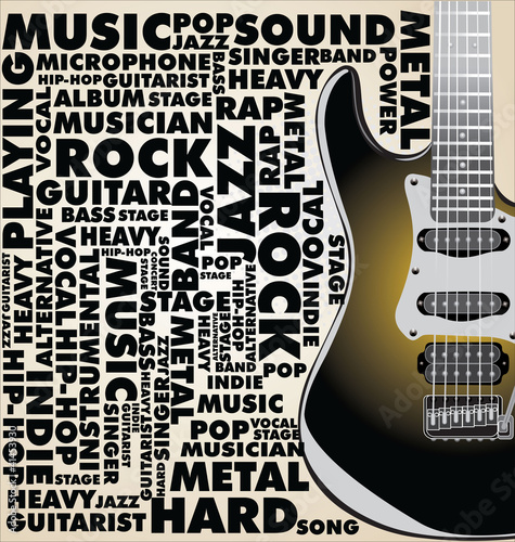 Music background with word collage