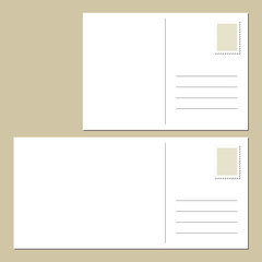 Blank postcards back