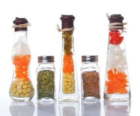 Decorative preserved vegetables and spice