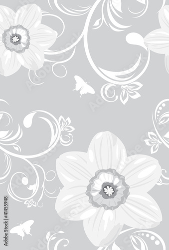 Decorative background with daffodils