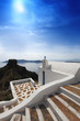 Santorini with Traditional Church in Fira, Greece
