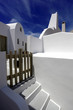 Santorini with Traditional houses in Fira, Greece