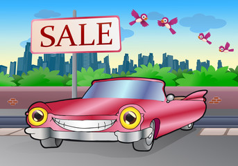 pink cadillac sale