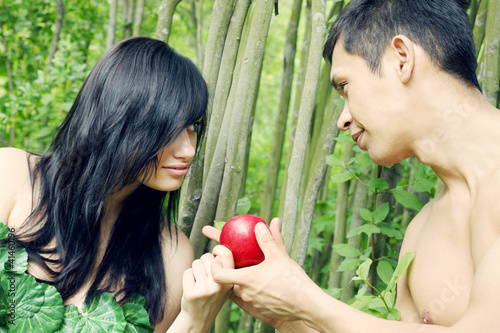 Adam, Eve and apple