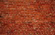 Leinwandbild Motiv Red brick wall