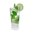Mojito drink over white
