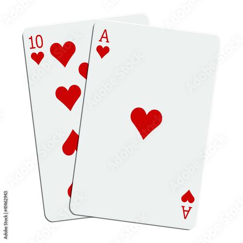 Blackjack - 21 en coeur