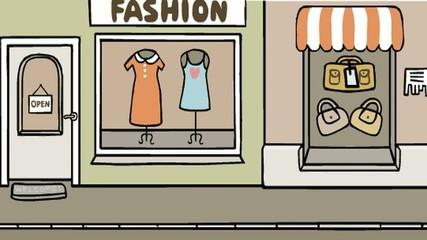 Einkaufsstraße Animation