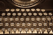 Antique typewriter on sepia