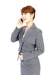 Beautiful business woman using a mobile phone. Portrait of asian