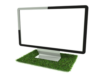 Monitor on grass right side view