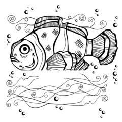 stencil fish silhouette