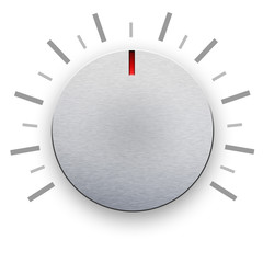 Volume knob on white background