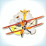animals in the biplane