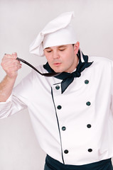 chef with large spoon