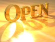 3D Open Gold text